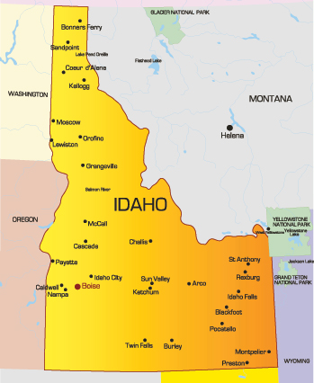 Idaho City Map MAP - Map of idaho with cities